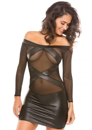 Vixen Wetlook and Mesh Dress