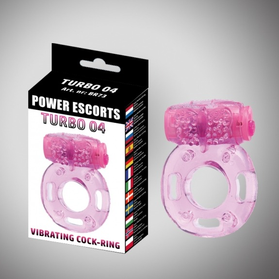 Turbo 04 - Vibrating Cockring - Pink